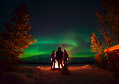 Sundog Retreat Northern Lights campfire - M Wagland